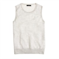 Collection featherweight cashmere shell in microcheck