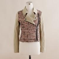 Tweed and khaki motorcycle jacket