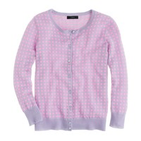 Collection featherweight cashmere cardigan in microcheck