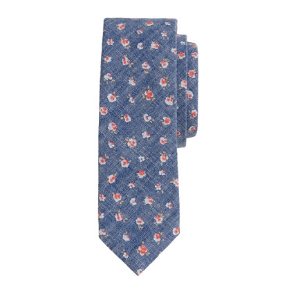 Chambray floral tie<BulletPoint></BulletPoint>