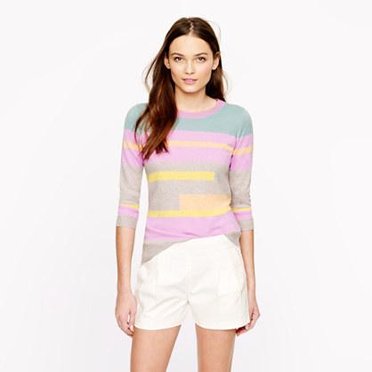 Collection cashmere broken-stripe sweater