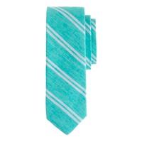 English Linen tie in double stripe