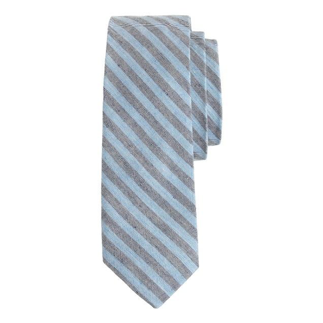 Cotton tie in multistripe