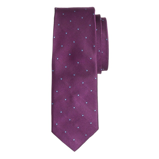 English silk tie in microdot