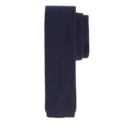 Italian cotton knit tie