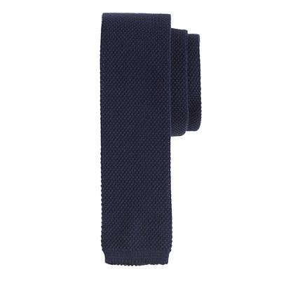 Italian cotton knit tie