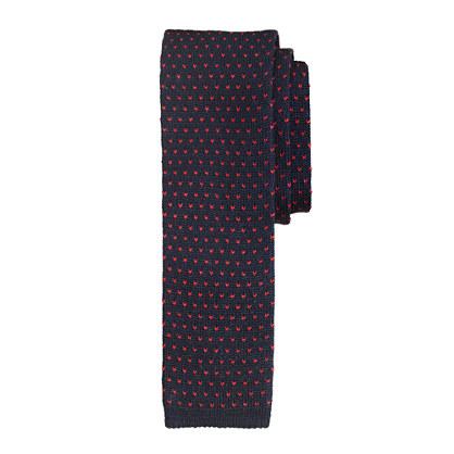 Knit tie in pindot