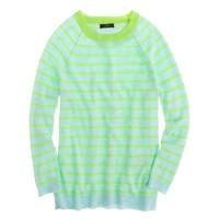 Collection cashmere raglan sweater in stripe