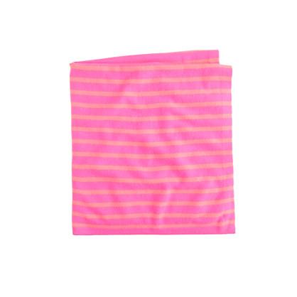 Baby cashmere blanket in mini-stripe