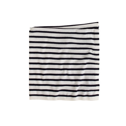 Baby cashmere blanket in mini-stripe
