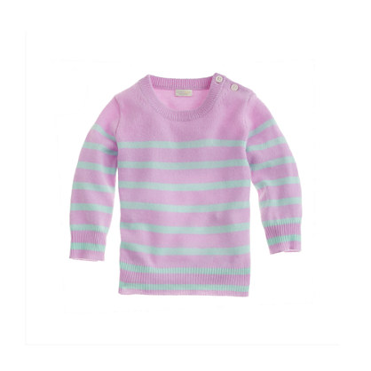Baby cashmere sweater in sailor stripe