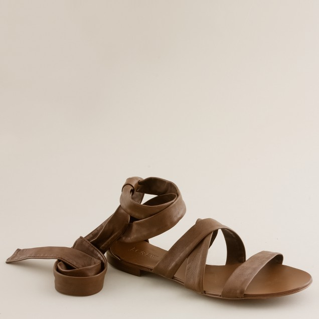 Sevigne washed leather sandals