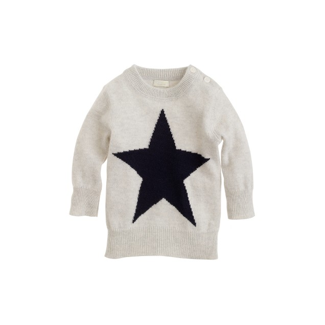Baby cashmere sweater in star
