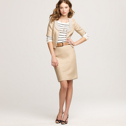 Presentation skirt in linen
