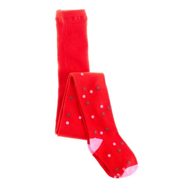Girls' stars and dots tights