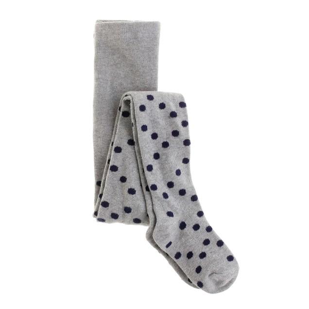 Girls' shimmer dot tights