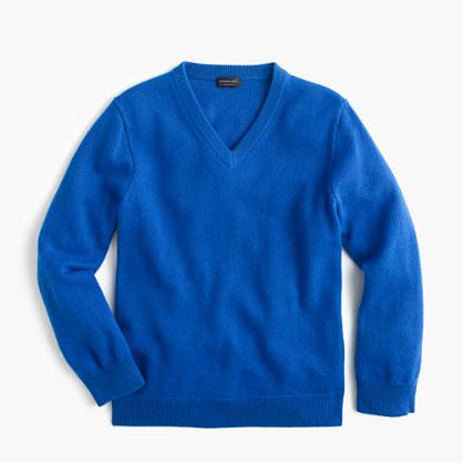 Kids' cashmere V-neck sweater