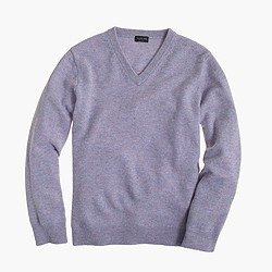 Kids' cashmere V-neck sweater