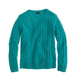Kids' cashmere cable crewneck sweater