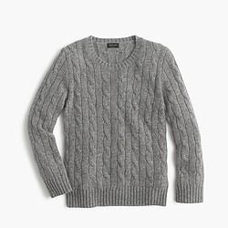 Kids' cashmere cable crewneck sweater
