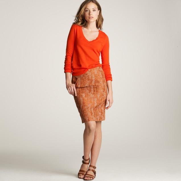 Aurora tweed pencil skirt