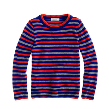 Boys' Collection cashmere stripe crewneck sweater