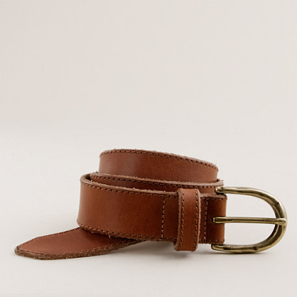 Battered denim belt