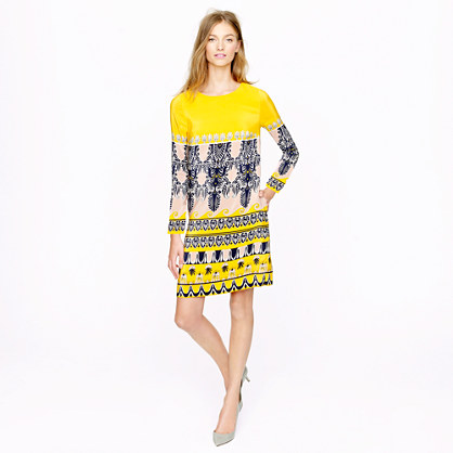 Jules dress in scroll print