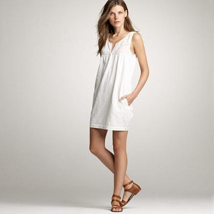Cotton lace shift dress