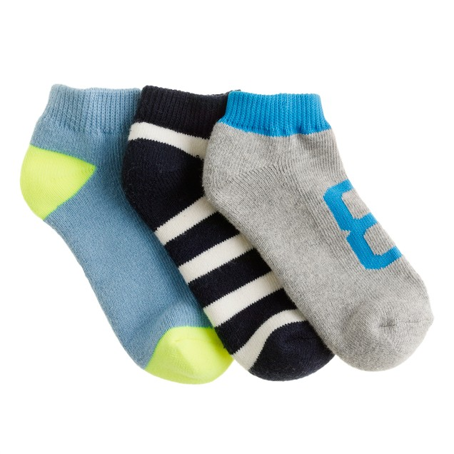 Boys' ankle socks three-pack