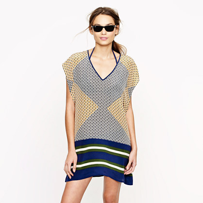 Silk abstract diamond tunic