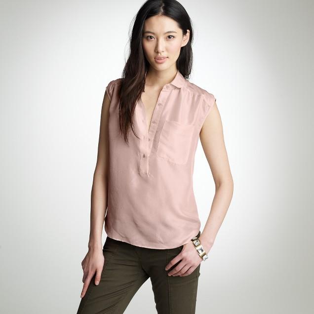 Silk henley top