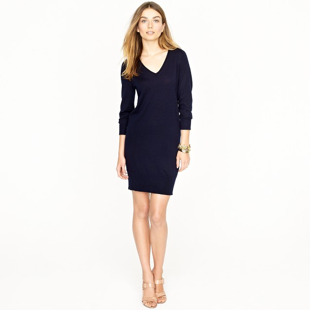 Merino sweater-dress