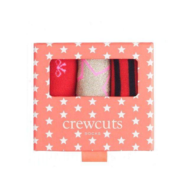 Girls' holiday trouser socks three-pack gift box