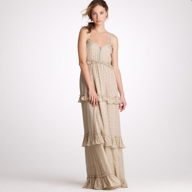 Golden raindrop dress