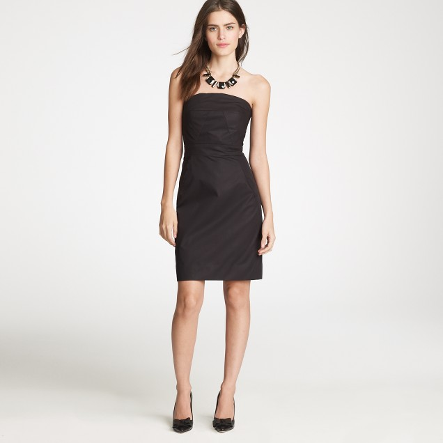Petite Ashley dress in cotton taffeta