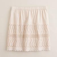 Delaney eyelet skirt