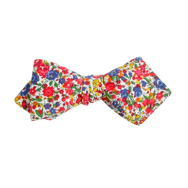 English cotton bow tie in Liberty Emma and Georgina floral
