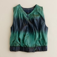 Ikat gathered vest