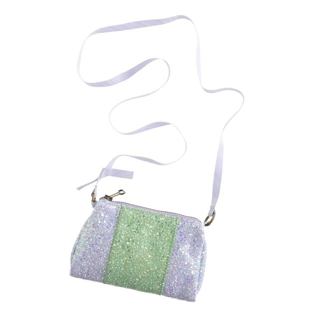 Girls' glitter pursette in colorblock