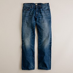 Straight jean in vintage worn wash