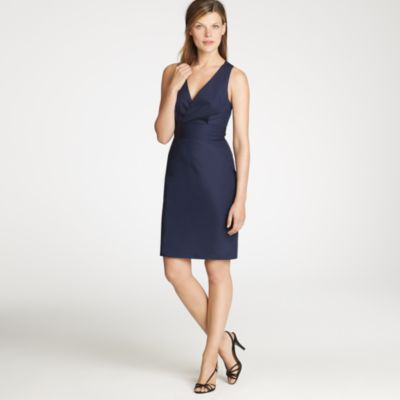 Petite Alisanne Dress In Cotton Taffeta With Bow J Crew