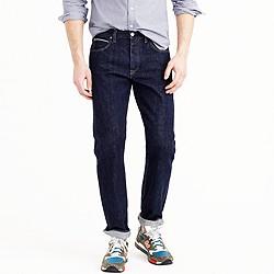 1040 slim-straight Japanese selvedge jean in resin crinkle wash