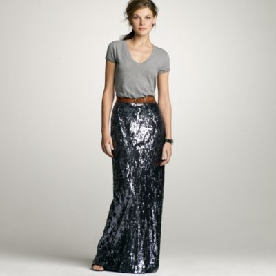 Sequin long skirt : Women j.crew collection | J.Crew