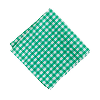 Thomas Mason® for J.Crew pocket square in gingham