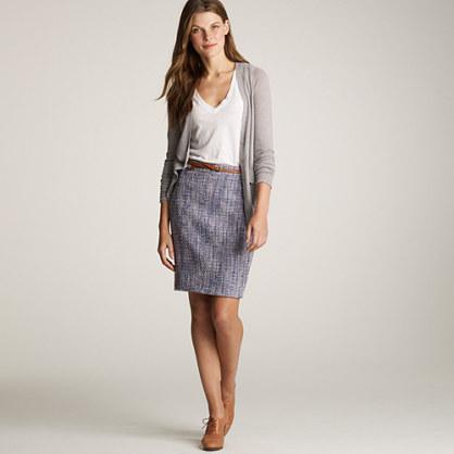 Bellflower tweed pencil skirt