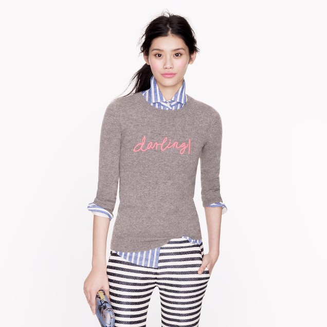 "Hugo Guinness for J.Crew cashmere ""darling"" sweater"