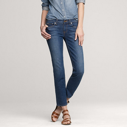 Cropped matchstick jean in hide away wash