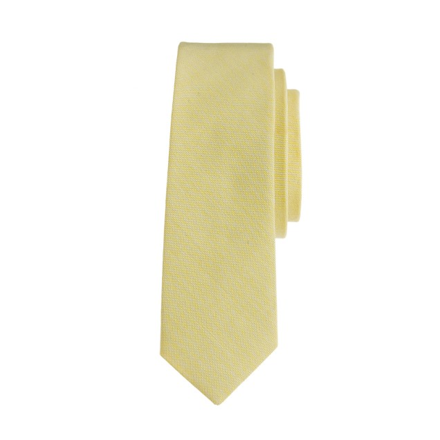 Boys' cotton oxford tie in bright citrus