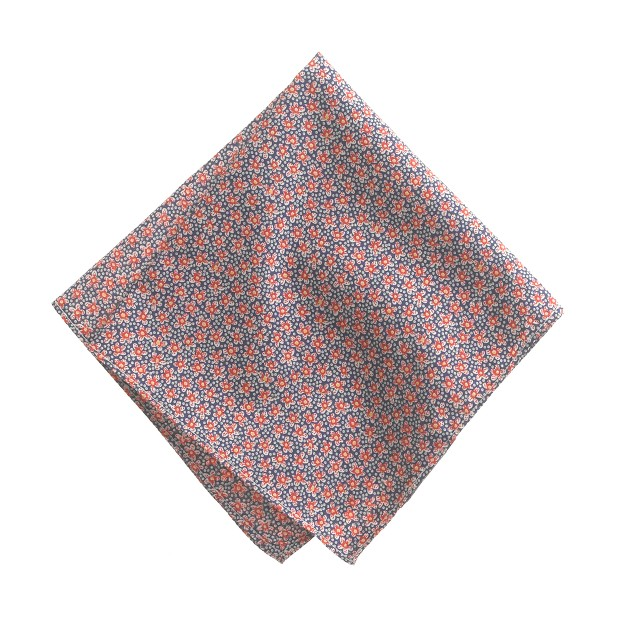 Liberty pocket square in speckle floral